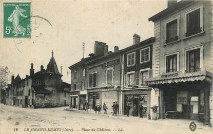 """CPA FRANCE 38 """"Le Grand Lemps, Place du Château""""."""