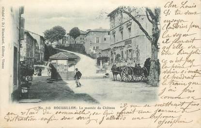 """CPA FRANCE 38 """"Roussillon, La montée du château""""."""
