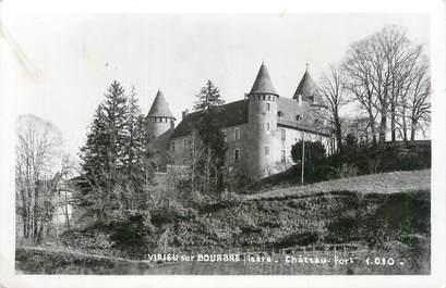 """CPSM FRANCE 38 """"Virieu sur Bourbe, Château Fort""""."""
