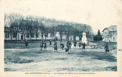 """CPA FRANCE 38 """"Les Avenières, Le Champ de Mars et le groupe scolaire""""."""