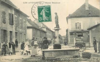 """CPA FRANCE 38 """"Les Avenières, Place Bacchus""""."""