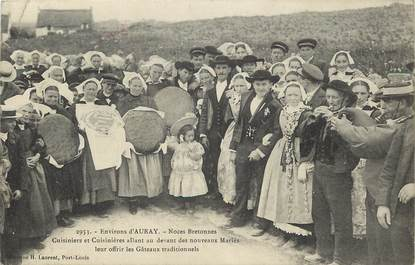 "CPA FRANCE 56 ""Env. d'Auray, Noces bretonnes"""