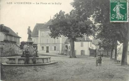 """CPA FRANCE 38 """"Les Avenières, La place et le Sully"""" ."""