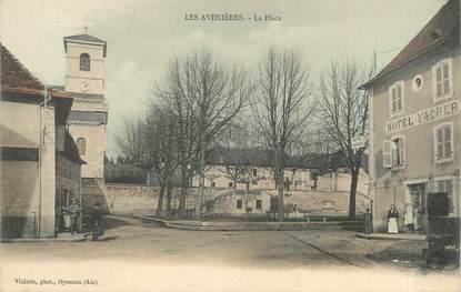 """CPA FRANCE 38 """"Les Avenières, La place""""."""