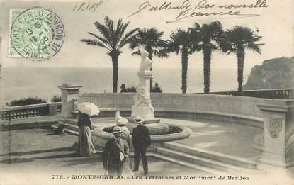"CPA  MONACO ""Monte Carlo, les Terrasses et monument de Berlioz"""
