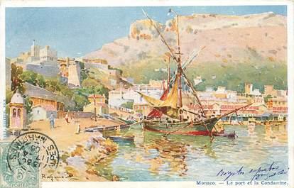 """CPA  MONACO  """"La ville, Le Port et la Condamine"""""""