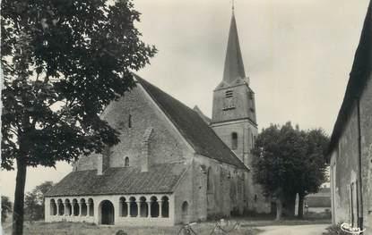 """CPSM FRANCE 45 """"Boesses, L'église, le porche""""."""