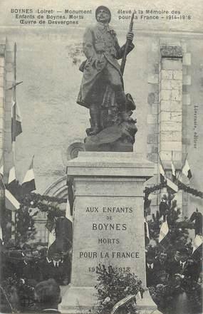 "CPA FRANCE 45 ""Boynes, Monument aux morts""."