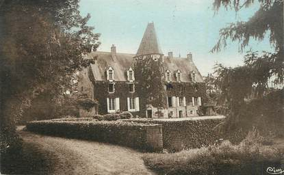 """CPA FRANCE 45 """"Autry le Chatel, Le petit château Sauts du Loup""""."""