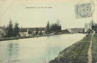 """CPSM FRANCE 45 """"Dordives, Le pont du canal"""""""