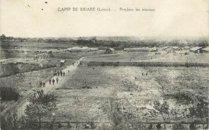"CPA FRANCE 45 ""Briare, Le camp pendant les travaux""."
