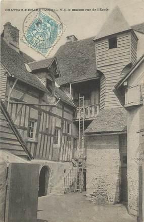 """CPA FRANCE 45 """"Châteaurenard, Vieille maison rue de l'école""""."""