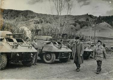 """PHOTO ORIGINALE / MAROC """"Inspection des troupes du RIF, 1955"""""""