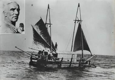 "PHOTO ORIGINALE / TAHITI ""La radeau Tahiti Nui a fait naufrage, 1957"""