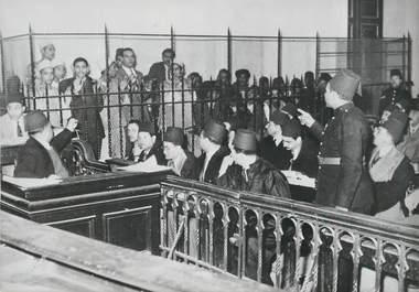"""PHOTO ORIGINALE / EGYPTE """"Le procès des émeutes du Caire, 1952"""""""