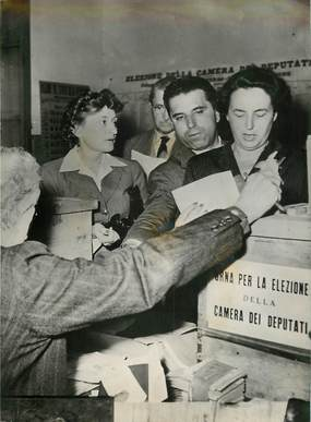 "PHOTO ORIGINALE / ITALIE ""Elections italiennes, 1953"""