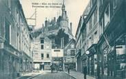 """45 Loiret CPA FRANCE 45 """"Gien, Rue du pont et tourelles du château""""."""