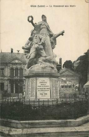 """CPA FRANCE 45 """"Gien, Le monument aux morts""""."""
