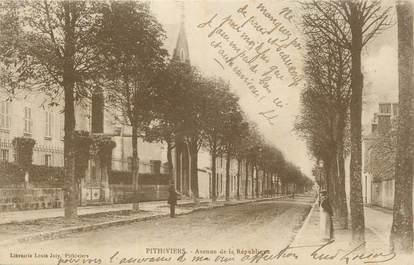 """CPA FRANCE 45 """"Pithiviers, Avenue de la République""""."""