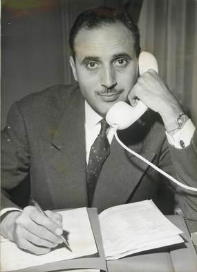 """PHOTO ORIGINALE / TUNISIE """"1958, le nouvel ambassadeur de Tunisie Habib Bourguiba"""""""