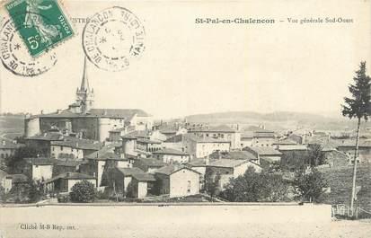 """CPA FRANCE 43 """"St Pal en Chalençon, Vue générale""""."""
