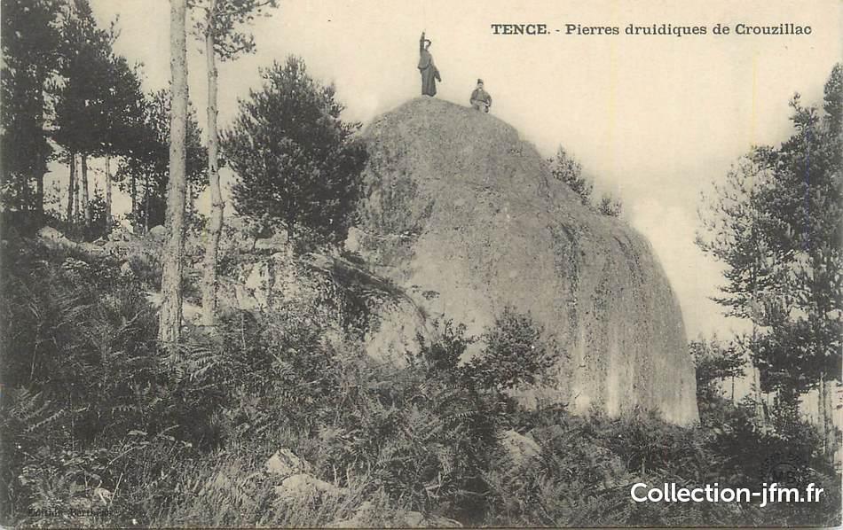 Cpa france 43 tence pierres druidiques de crouzillac for Haute loire 43
