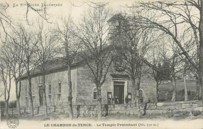 """CPA FRANCE 43 """"Le Chambon de Tence, Le temple protestant""""."""