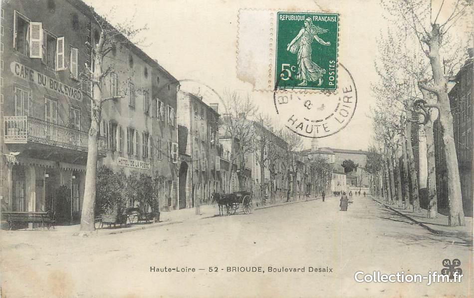 Cpa france 43 brioude boulevard desaix 43 haute for Haute loire 43