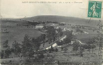 """CPA FRANCE 43 """"St Bonnet le Froid, Panorama""""."""
