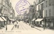 """77 Seine Et Marne CPA FRANCE 77 """"Fontainebleau, rue Grande"""" / CACHET MILITAIRE"""