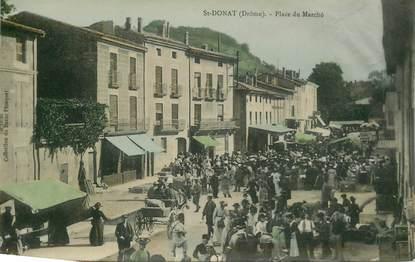 """CPA FRANCE 26 """"Saint Donat, la place du Marché"""""""