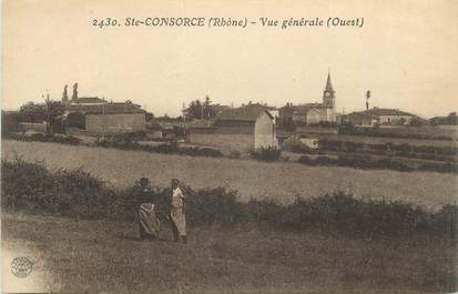 """CPA FRANCE 69 """"Ste Consorce, Vue générale """"."""