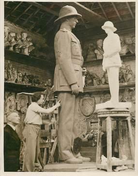 """PHOTO ORIGINALE / AFRIQUE """"Congo Belge , Léopoldville, 1938, monument du roi Albert Premier"""""""
