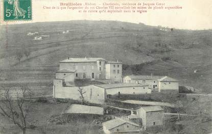 """CPA FRANCE 69 """" Brullioles, Charfetain résidence de Jacques Coeur""""."""
