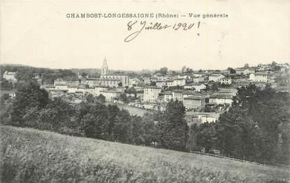 """CPA FRANCE 69 """" Chambost Longessaigne, Vue générale""""."""