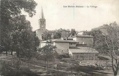 """CPA FRANCE 69 """"Les Halles, Le village""""."""