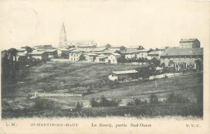 """CPA FRANCE 69 """"St Martin en Haut, Le bourg""""."""