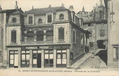 """CPA FRANCE 69 """"St Symphorien sur Coise, Montée de la Grenette""""."""