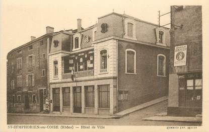 """CPA FRANCE 69 """"St Symphorien sur Coise, Hôtel de Ville""""."""