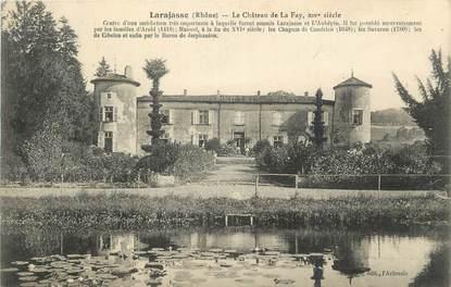 """CPA FRANCE 69 """"Larajasse, Le château de la Fay""""."""