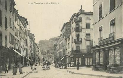 """CPA FRANCE 69 """" Tarare, Rue Pêcherie""""."""