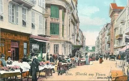 """CPA FRANCE 06 """"Nice, le marché aux fleurs """""""