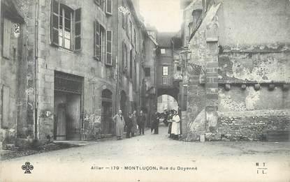 """CPA FRANCE 03 """"Montluçon, Rue du Doyenné""""."""