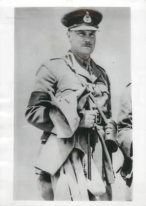 """PHOTO ORIGINALE / CRETE """"Le Gal anglais commandant des troupes de l'Ile de Crete"""""""