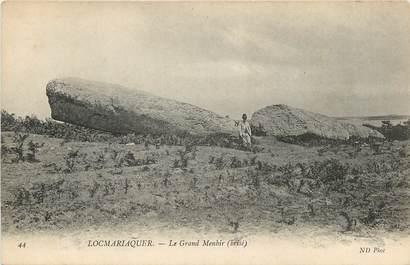 """CPA FRANCE 56 """"Locmariaquer, le Grand Menhir"""""""