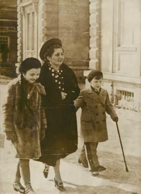 """PHOTO ORIGINALE / AUTRICHE """"Budapest, les enfants du chancelier Dollfuss et leur gouvernante, 1938"""""""