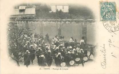"""CPA FRANCE 21 """" Nuits Saint Georges, passage de troupes"""""""