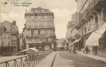 """CPA FRANCE 19 """"Brive, Rue Toulzac et place Latreille""""."""