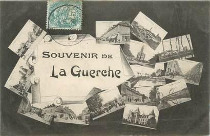 """CPA FRANCE 18 """" La Guerche, Vues""""."""