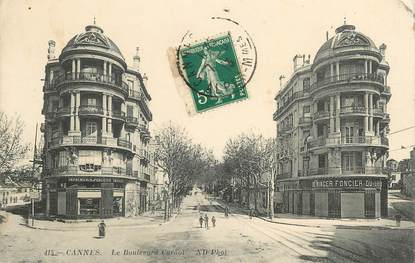 """CPA FRANCE 06 """"Cannes, le bld Carnot"""""""
